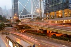 Rascacielos céntricos de Hong Kong Fotografía de archivo libre de regalías