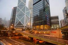 Rascacielos céntricos de Hong Kong Imagenes de archivo
