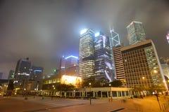 Rascacielos céntricos de Hong Kong Foto de archivo libre de regalías