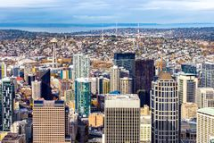 Rascacielos céntricos de Seattle Fotos de archivo