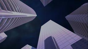 rascacielos con el relámpago almacen de metraje de vídeo