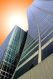 Rascacielos curvado fotografía de archivo libre de regalías