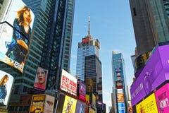 Rascacielos de Broadway de Midtown Manhattan Foto de archivo libre de regalías