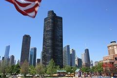 Rascacielos de Chicago del embarcadero de la marina imágenes de archivo libres de regalías