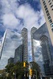 Rascacielos de cristal en Toronto Imágenes de archivo libres de regalías