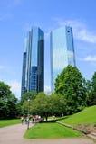 Rascacielos de Deutsche Bank Imágenes de archivo libres de regalías