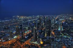 Rascacielos de Dubai Foto de archivo libre de regalías