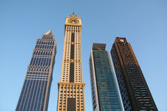 Rascacielos de Dubai Imágenes de archivo libres de regalías
