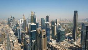 Rascacielos de Dubai almacen de metraje de vídeo