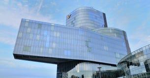 Rascacielos de Edifici Gas Natural también Torre Mare Nostrum Foto de archivo