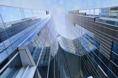Rascacielos de Edifici Gas Natural también Torre Mare Nostrum Fotos de archivo libres de regalías