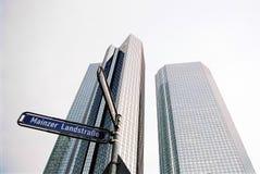 Rascacielos de Francfort Fotografía de archivo libre de regalías