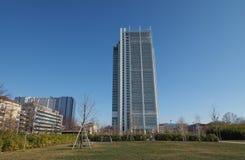 Rascacielos de Intesa San Paolo en Turín Fotografía de archivo libre de regalías