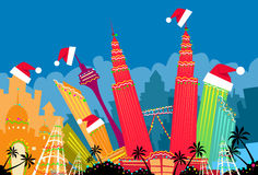 Rascacielos de Kuala Lumpur Abstract Skyline City ilustración del vector