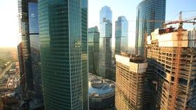 Rascacielos de la ciudad de Moscú almacen de metraje de vídeo