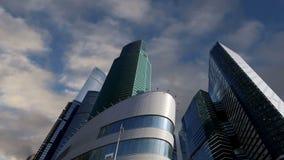 Rascacielos de la ciudad internacional del centro de negocios, Moscú, Rusia almacen de metraje de vídeo