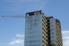 Rascacielos de la demolición Imágenes de archivo libres de regalías