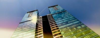 Rascacielos de la opinión de ángulo bajo Fotografía de archivo