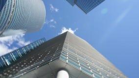 Rascacielos de la parte inferior almacen de metraje de vídeo
