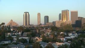 Rascacielos de Los Ángeles almacen de metraje de vídeo