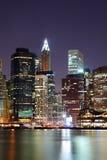Rascacielos de Manhattan en New York City Imágenes de archivo libres de regalías