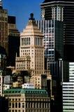 Rascacielos de Manhattan en Nueva York, los E.E.U.U. Foto de archivo