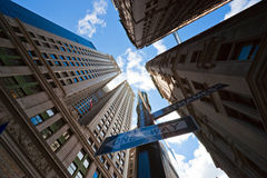 Rascacielos de Manhattan, New York City. Imagen de archivo libre de regalías