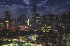 Rascacielos de Sathorn Fotos de archivo