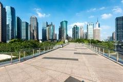 Rascacielos de Shangai de Pudong Lujiazui por mañana en Shangai, Fotografía de archivo