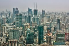 Rascacielos de Shangai Lujiazui CBD Imagen de archivo libre de regalías