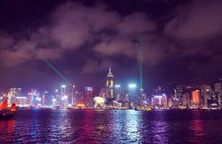 Rascacielos de Victoria Harbour y de Hong Kong Imagenes de archivo