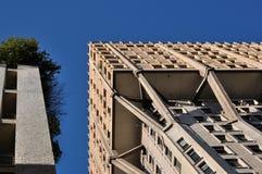 Rascacielos del brutalist de la torre de Velasca, Milano Fotografía de archivo