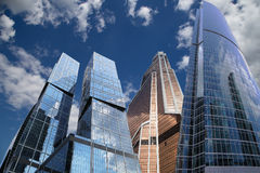 Rascacielos del centro de negocios internacional (ciudad), Moscú, Rusia Foto de archivo libre de regalías