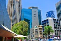 Rascacielos del centro de negocios de Tel Aviv Diamond Exchange de Israel Fotografía de archivo