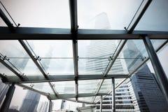 Rascacielos del centro financiero de Shangai Lujiazui Foto de archivo libre de regalías