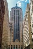 Rascacielos del edificio de la junta de comercio de Chicago imagenes de archivo