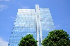 Rascacielos del espejo, Frankfurt-am-Main Imagenes de archivo