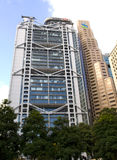 Rascacielos del horizonte de HSBC Standard Chartered Hong Kong Central Financial Centre Imagen de archivo
