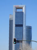 Rascacielos del negocio en Madrid Imagenes de archivo