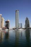Rascacielos del puerto deportivo de Dubai Fotos de archivo libres de regalías