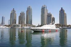 Rascacielos del puerto deportivo de Dubai, UAE Fotografía de archivo libre de regalías