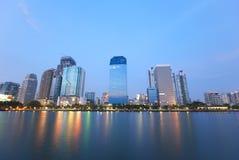 Rascacielos en Bangkok Imágenes de archivo libres de regalías