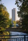 Rascacielos en Chemnitz en otoño imagen de archivo libre de regalías