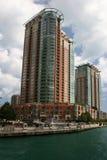 Rascacielos en Chicago Imágenes de archivo libres de regalías