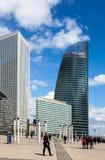 Rascacielos en defensa del La Foto de archivo libre de regalías