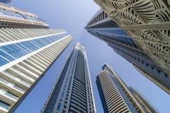 rascacielos en Dubai Imágenes de archivo libres de regalías
