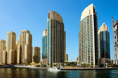 Rascacielos en Dubai Imagen de archivo libre de regalías