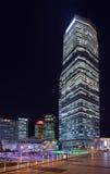 Rascacielos en el área de Lujiazui en la noche, Shangai, China Fotos de archivo libres de regalías