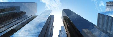 Rascacielos en el cielo imagenes de archivo