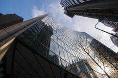 Rascacielos en el distrito financiero de Londres Imagen de archivo libre de regalías